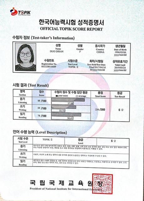 喜报:我校朝鲜语专业大二至大四在校生在第52届韩国语能力考试(TOPIK)中取得好成绩!